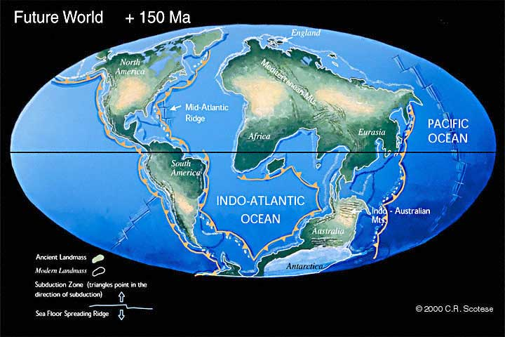 The Future World 50 to 250 million years from now